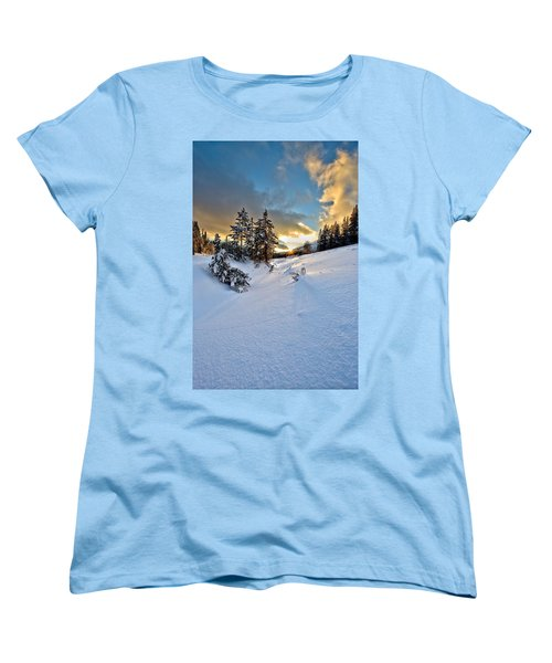 Winter Sunset Women's T-Shirt (Standard Cut) by David Andersen