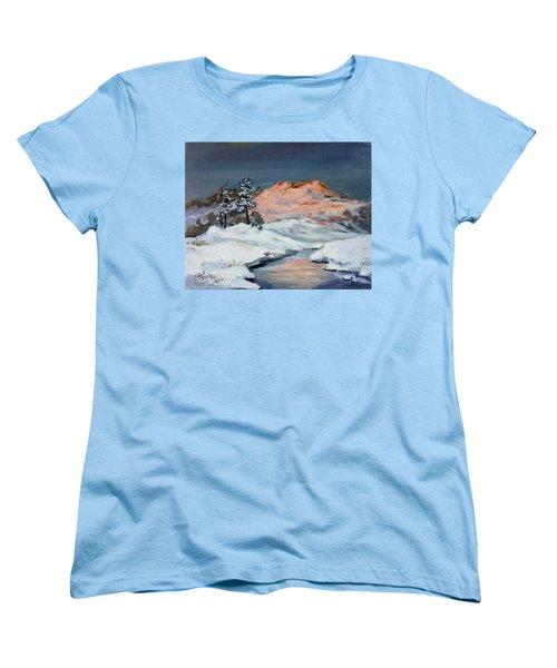 Winter Sunset In The Mountains Women's T-Shirt (Standard Cut)