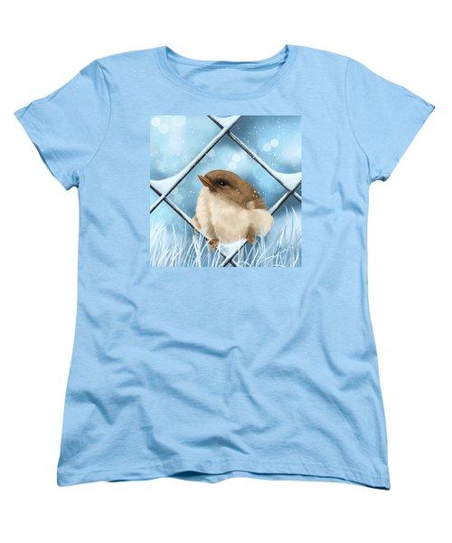 Women's T-Shirt (Standard Cut) featuring the painting Winter Sweetness  by Veronica Minozzi