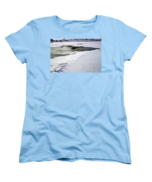 Winter Tracks Women's T-Shirt (Standard Cut) by Eric Nielsen
