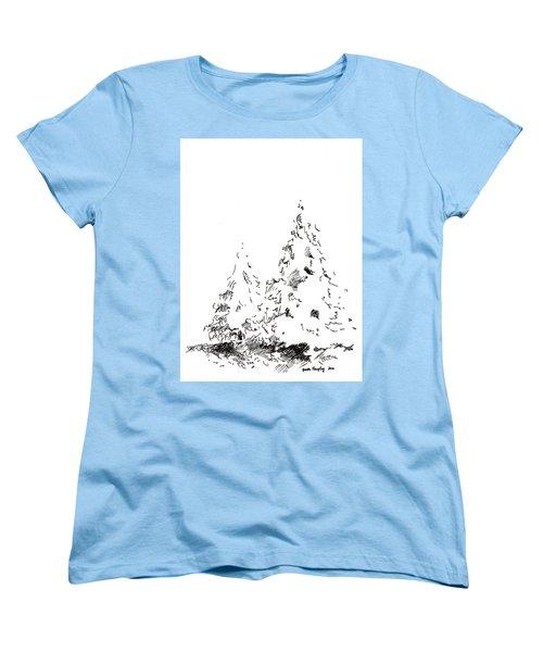 Winter Trees 1 - 2016 Women's T-Shirt (Standard Cut) by Joseph A Langley