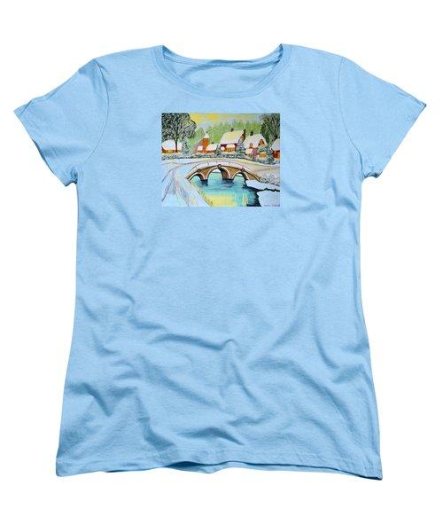 Winter Village Women's T-Shirt (Standard Cut)