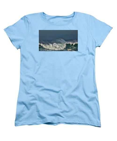 Winter Waves And Veil Women's T-Shirt (Standard Cut) by Shirley Mangini
