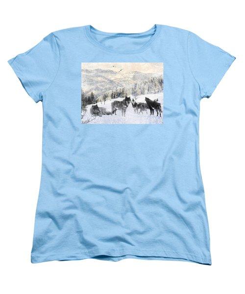 Winter Wolves Women's T-Shirt (Standard Fit)