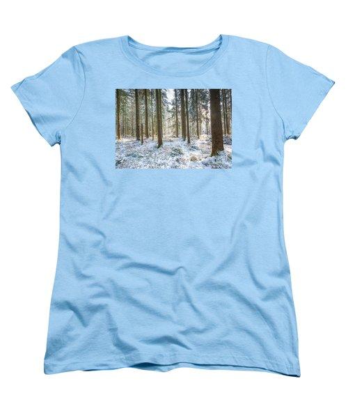 Women's T-Shirt (Standard Cut) featuring the photograph Winter Wonderland by Hannes Cmarits