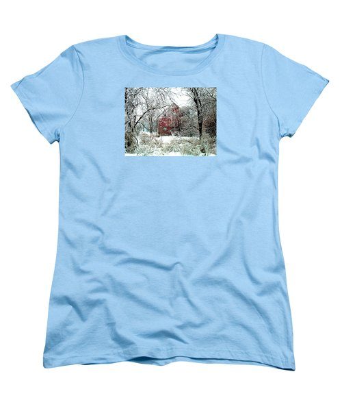 Winter Wonderland Women's T-Shirt (Standard Cut) by Julie Hamilton