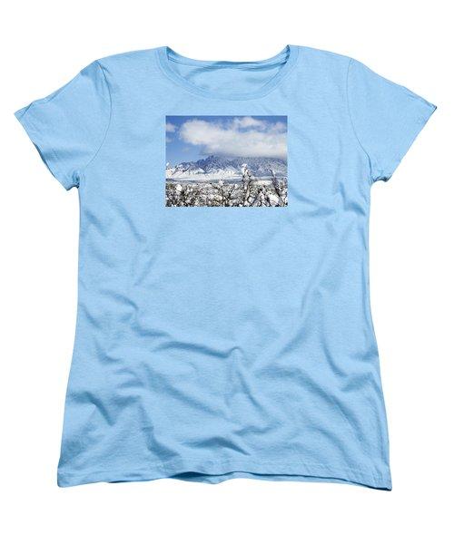 Women's T-Shirt (Standard Cut) featuring the photograph Organ Mountains Winter Wonderland by Kurt Van Wagner