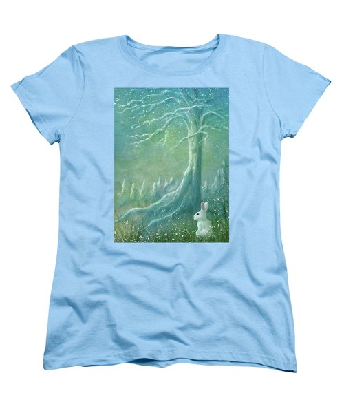 Women's T-Shirt (Standard Cut) featuring the digital art Winters Coming by Ann Lauwers