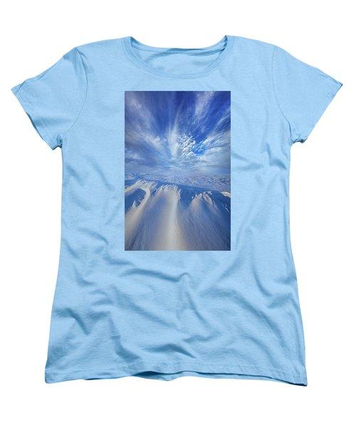 Women's T-Shirt (Standard Cut) featuring the photograph Winter's Hue by Phil Koch