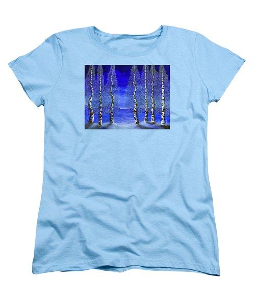 Winters Raven Aspen Women's T-Shirt (Standard Cut) by Rebecca Parker