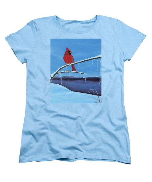 Winter's Red Women's T-Shirt (Standard Cut)