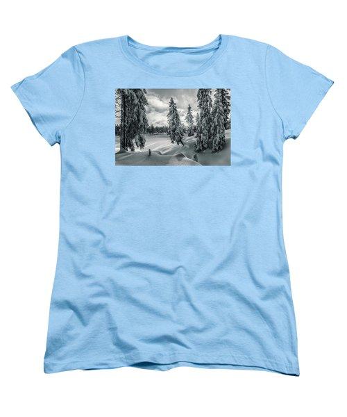 Winter Wonderland Harz In Monochrome Women's T-Shirt (Standard Cut) by Andreas Levi
