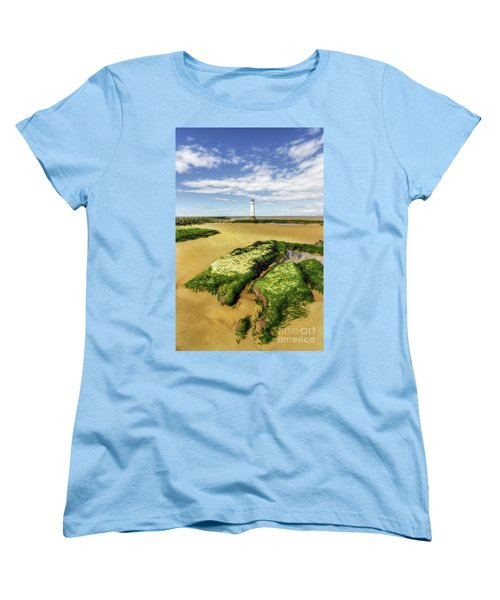 Women's T-Shirt (Standard Cut) featuring the photograph Wirral Lighthouse by Ian Mitchell