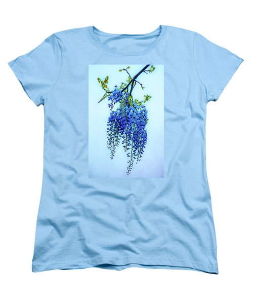 Women's T-Shirt (Standard Cut) featuring the photograph Wisteria by Chris Lord