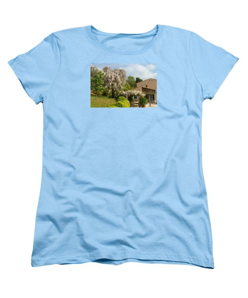 Women's T-Shirt (Standard Cut) featuring the photograph Wisteria by Richard Patmore