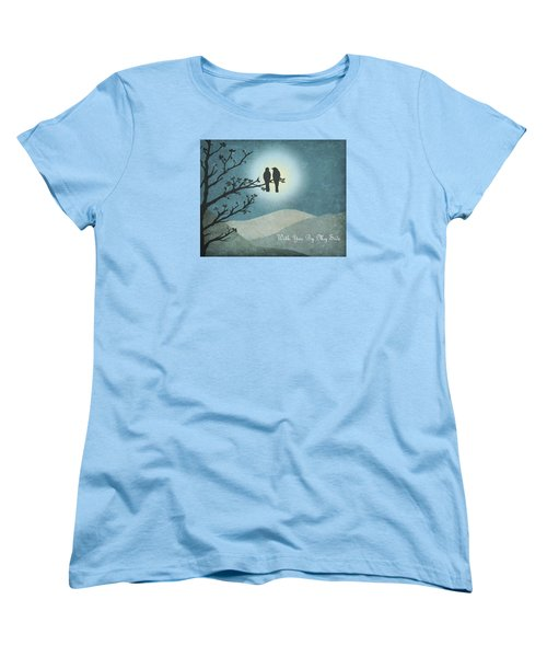With You By My Side Landscape View Women's T-Shirt (Standard Cut) by Christina Lihani