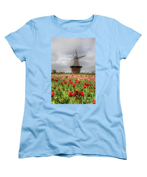 Women's T-Shirt (Standard Cut) featuring the photograph Wjndmill Island 2 by Robert Pearson