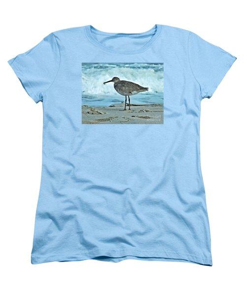 Wonderful Willet  Women's T-Shirt (Standard Cut) by Christy Ricafrente