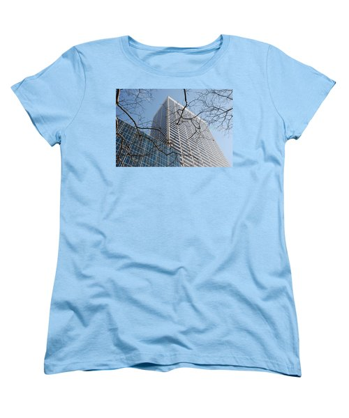 Women's T-Shirt (Standard Cut) featuring the photograph Wood And Glass by Rob Hans