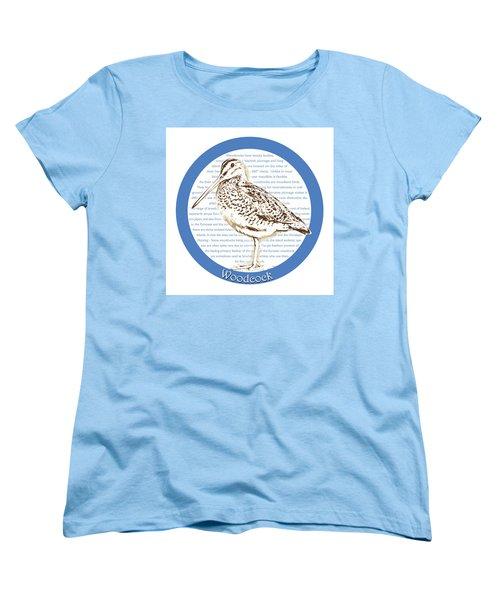 Woodcock Women's T-Shirt (Standard Cut) by Greg Joens