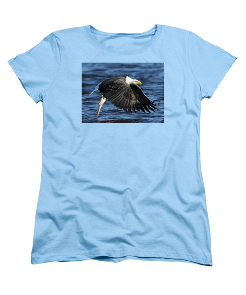 Women's T-Shirt (Standard Cut) featuring the photograph Working Hard For Dinner by Coby Cooper