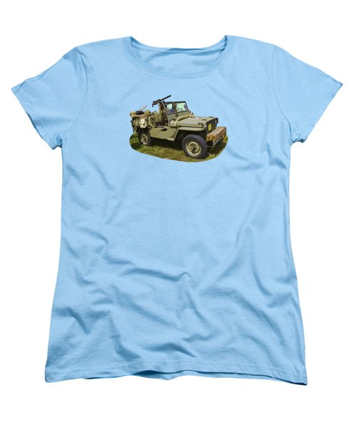 World War Two - Willys - Army Jeep  Women's T-Shirt (Standard Cut) by Keith Webber Jr