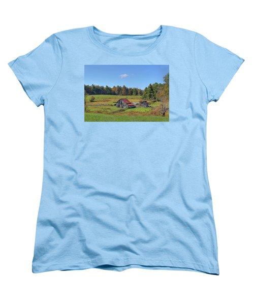 Women's T-Shirt (Standard Cut) featuring the digital art Worn Out by Sharon Batdorf
