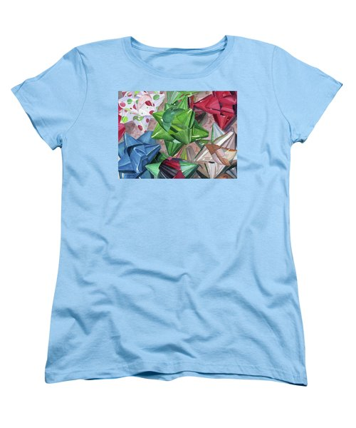 Women's T-Shirt (Standard Cut) featuring the painting Wrap It Up by Lynne Reichhart