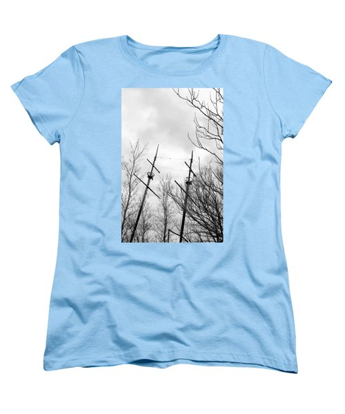 Women's T-Shirt (Standard Cut) featuring the photograph Wrecked by Valentino Visentini