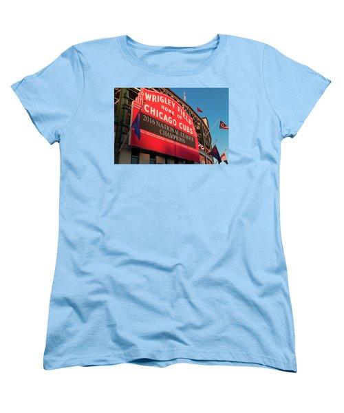 Wrigley Field Marquee Angle Women's T-Shirt (Standard Cut)