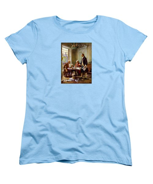 Writing The Declaration Of Independence Women's T-Shirt (Standard Cut)