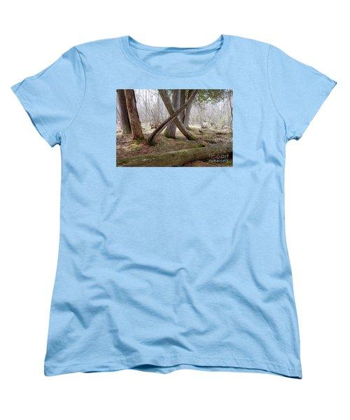 X Marks The Spot Women's T-Shirt (Standard Cut) by Sandra Updyke