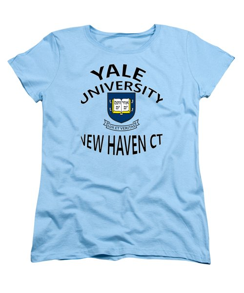 Yale University New Haven Connecticut  Women's T-Shirt (Standard Cut) by Movie Poster Prints