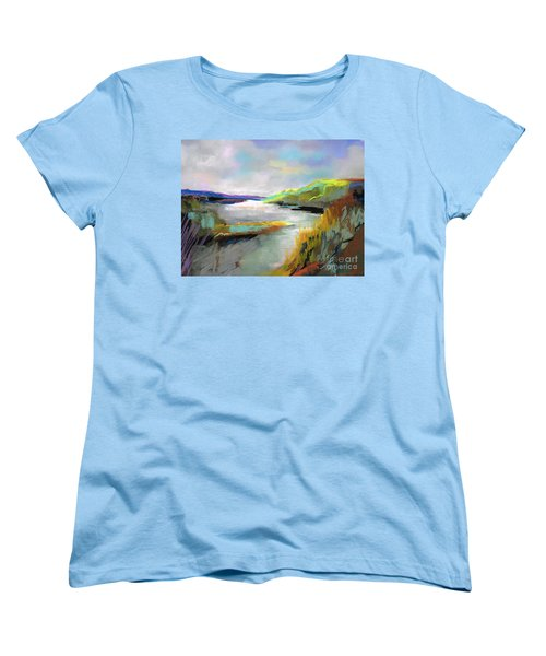 Yellow Mountain Women's T-Shirt (Standard Cut) by Frances Marino