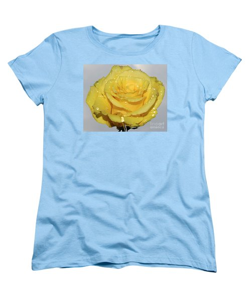 Women's T-Shirt (Standard Cut) featuring the photograph Yellow Rose by Elvira Ladocki