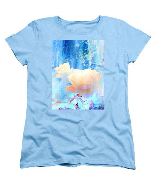 Yellow Roses By The Bridge Women's T-Shirt (Standard Cut)