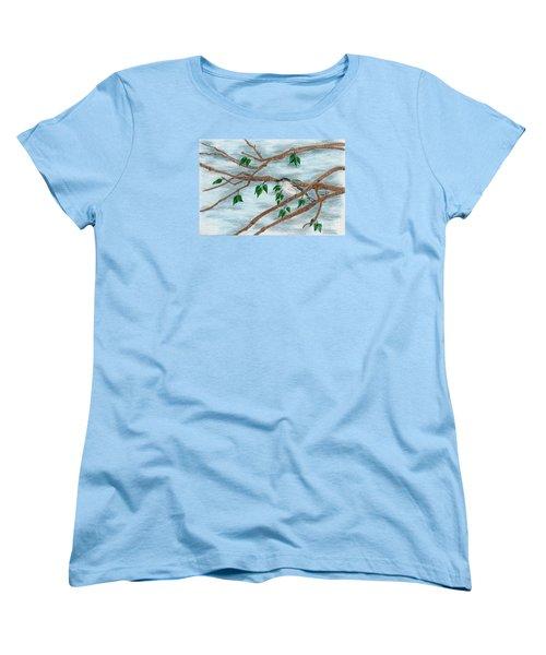 Yellow Rumped Warbler Women's T-Shirt (Standard Cut) by Terri Mills