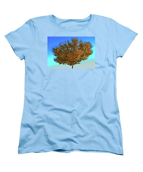 Yellow Tree Blue Sky Women's T-Shirt (Standard Cut) by Matt Harang