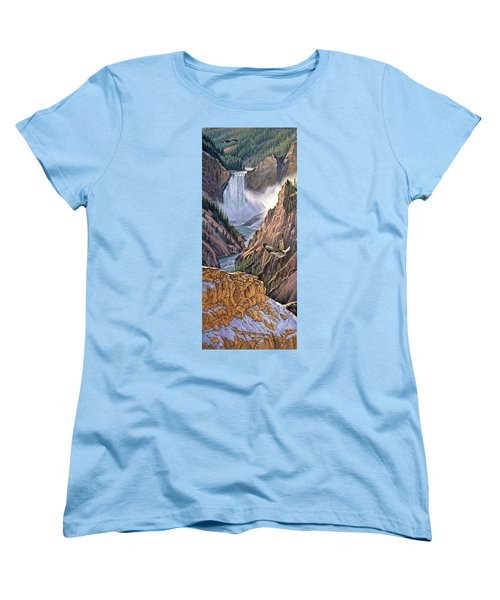 Yellowstone Canyon-osprey Women's T-Shirt (Standard Fit)