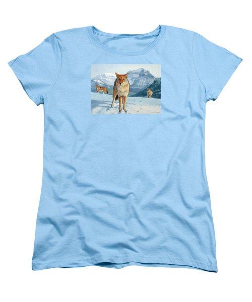 Yellowstone Coyotes Women's T-Shirt (Standard Cut) by Paul Krapf