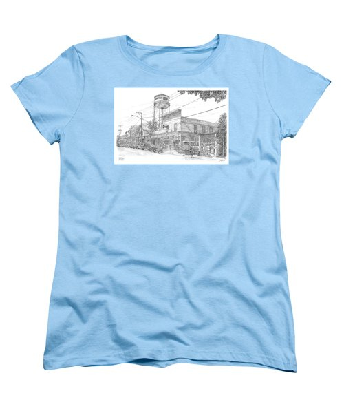 Women's T-Shirt (Standard Cut) featuring the drawing Yesterday Today by Doug Kreuger