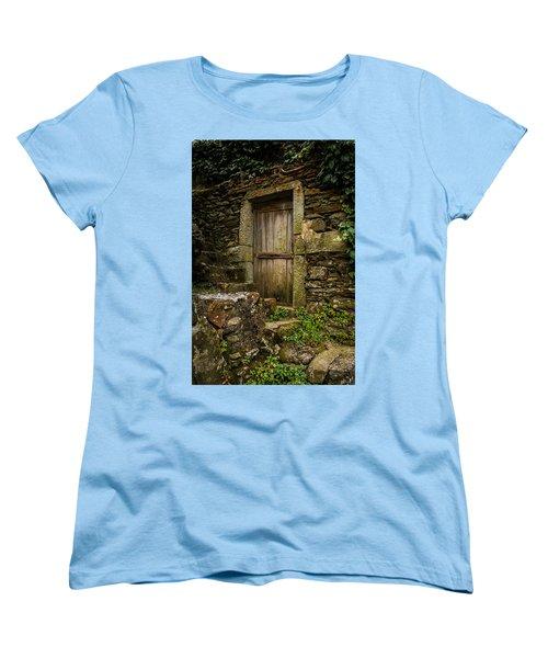 Yesterday's Garden Door Women's T-Shirt (Standard Cut) by Kathleen Scanlan
