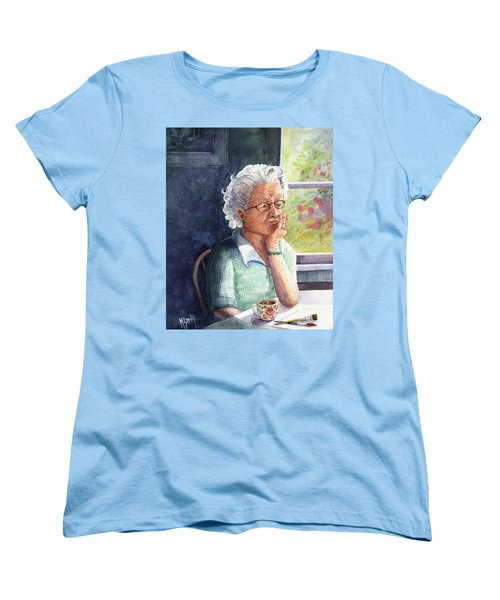 Women's T-Shirt (Standard Cut) featuring the painting Yesterday's Gone by Marilyn Smith
