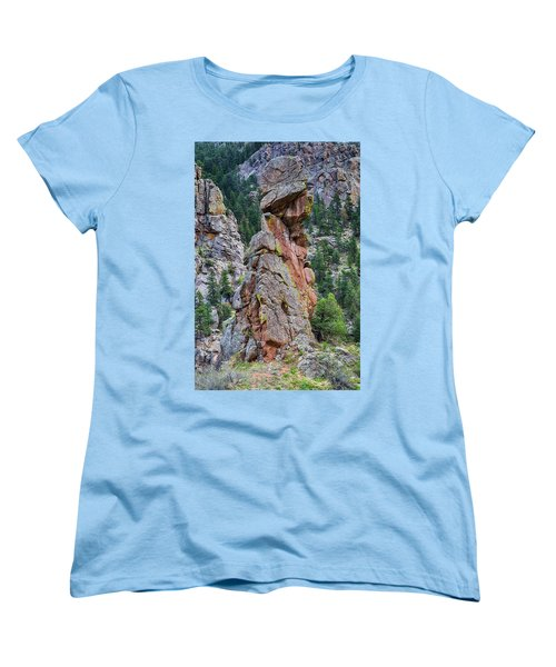 Women's T-Shirt (Standard Cut) featuring the photograph Yogi Bear Rock Formation by James BO Insogna