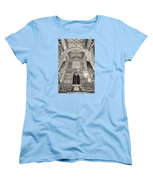 Women's T-Shirt (Standard Cut) featuring the photograph York Minster Uk by Jack Torcello