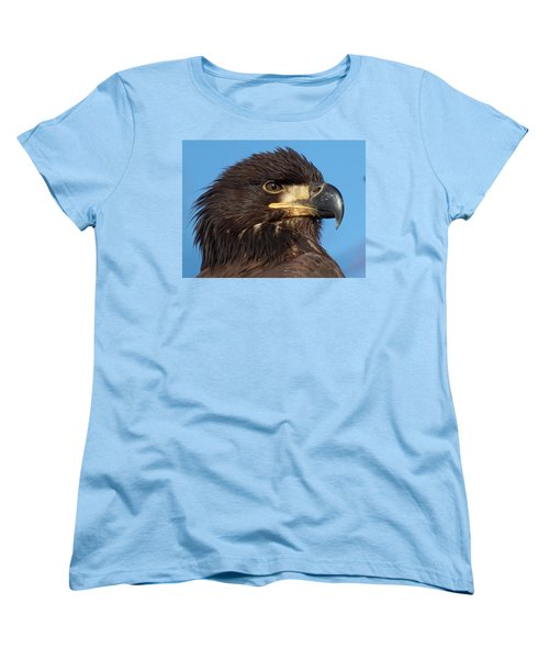 Young Eagle Head Women's T-Shirt (Standard Cut) by Sheldon Bilsker