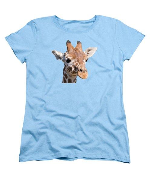 Young Giraffe  Women's T-Shirt (Standard Cut) by Scott Carruthers