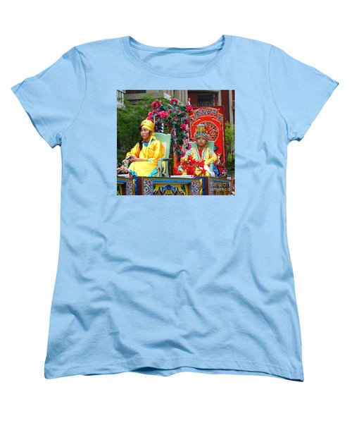 Women's T-Shirt (Standard Cut) featuring the photograph Young People Dreesed In Traditional Chinese Robes by Yali Shi