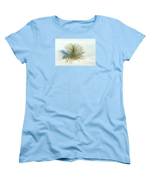 Yucca In White Sand Women's T-Shirt (Standard Cut) by Jerry Cahill