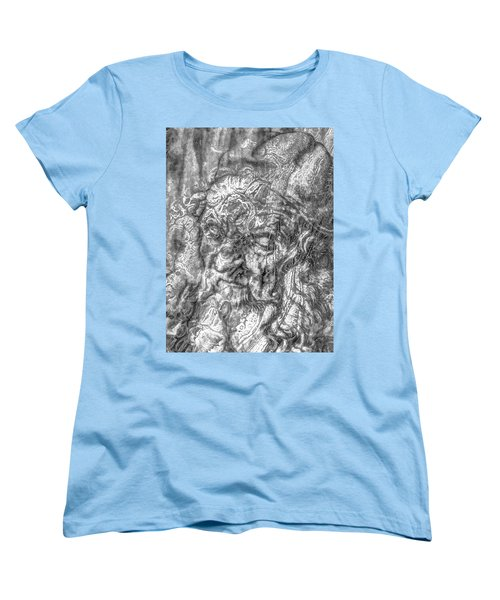 Women's T-Shirt (Standard Cut) featuring the mixed media Yury Bashkin   Known Head by Yury Bashkin